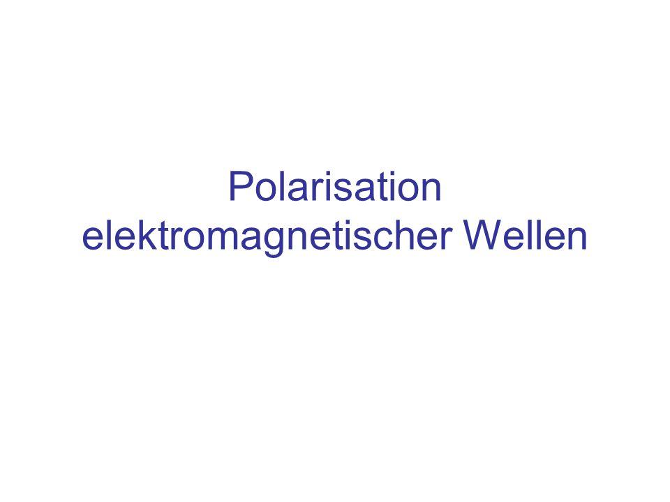 Polarisation elektromagnetischer Wellen