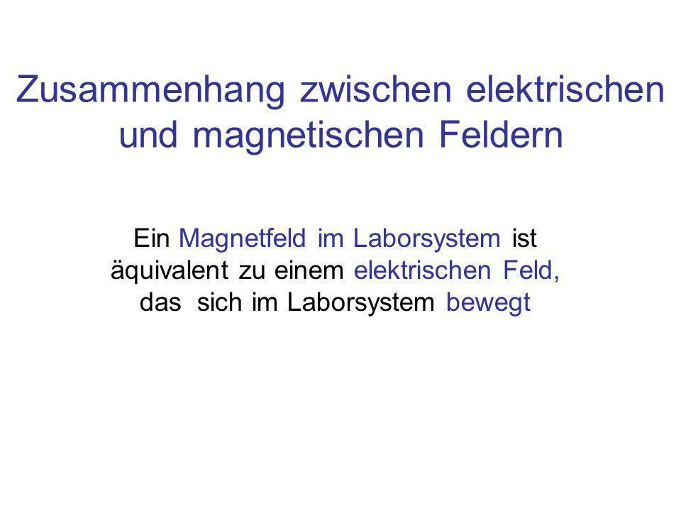 Zusammenhang zwischen elektrischen und magnetischen Feldern