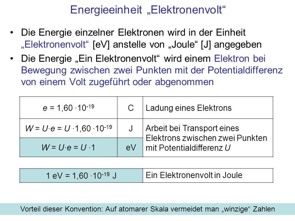 "Energieeinheit ""Elektronenvolt"