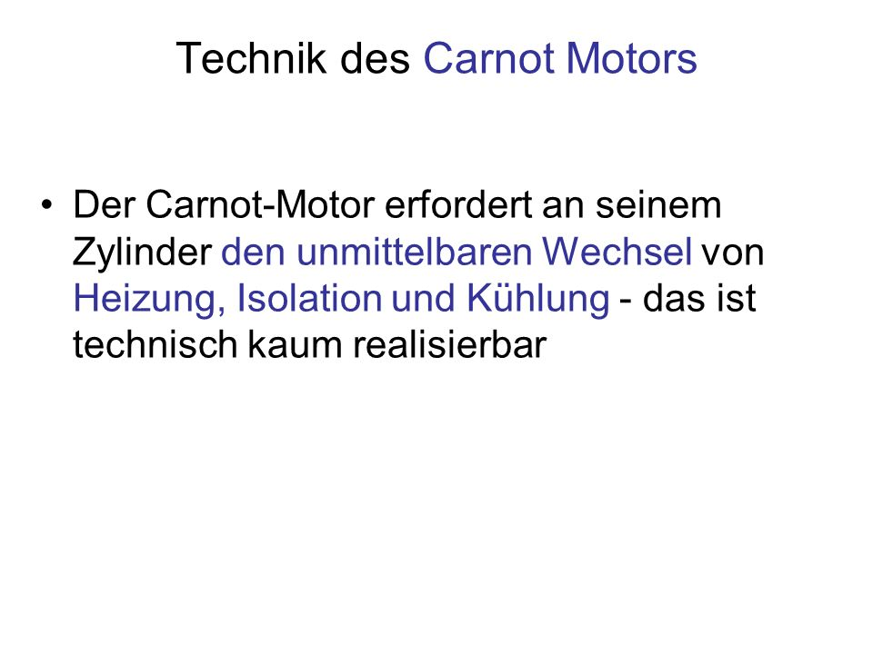 Technik des Carnot Motors