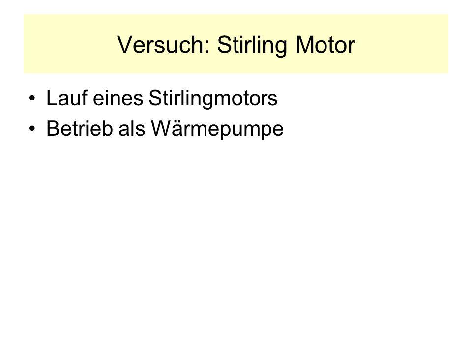 Versuch: Stirling Motor