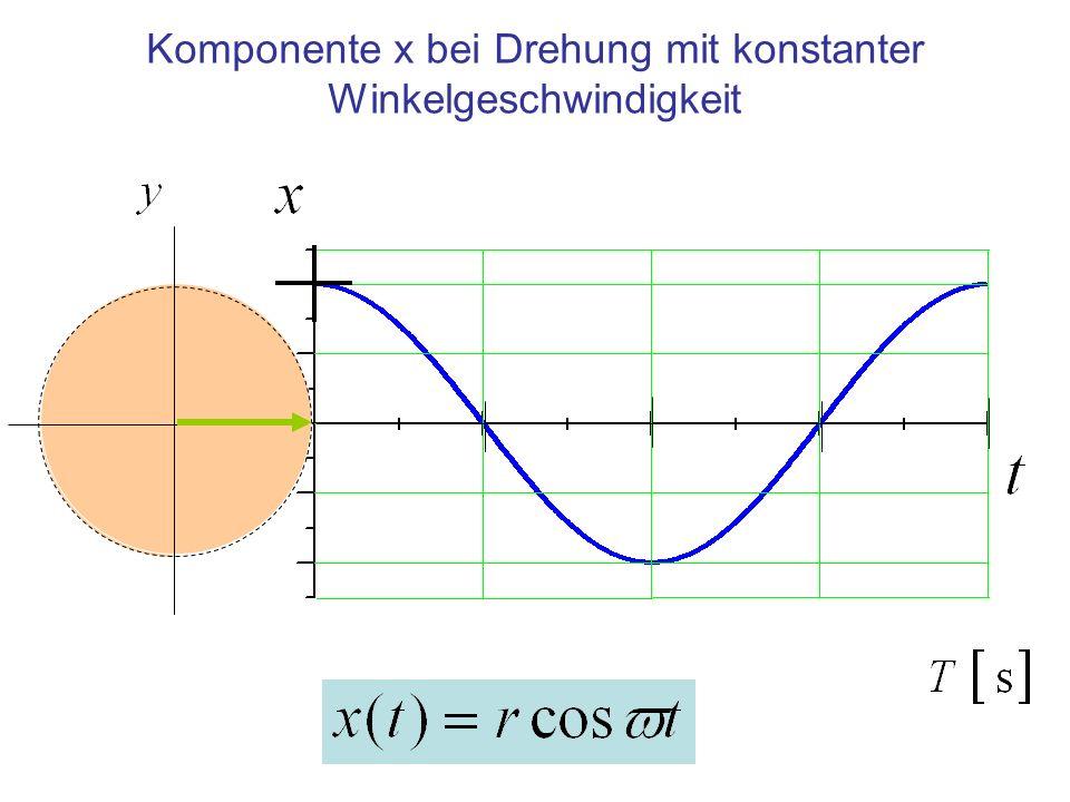 Komponente x bei Drehung mit konstanter Winkelgeschwindigkeit