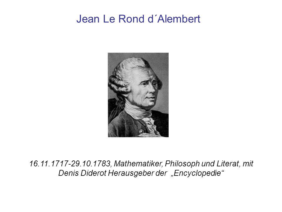 Jean Le Rond d´Alembert