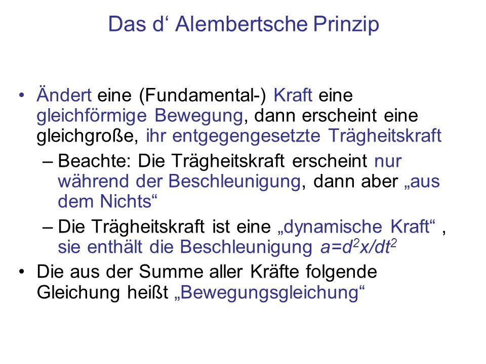 Das d' Alembertsche Prinzip