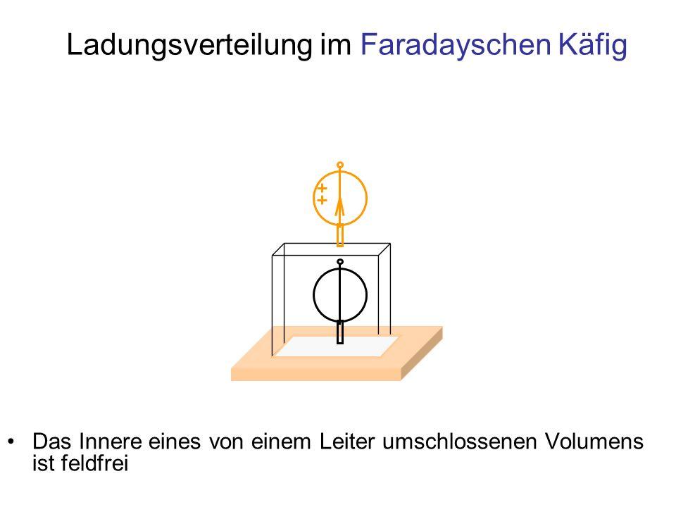 Ladungsverteilung im Faradayschen Käfig