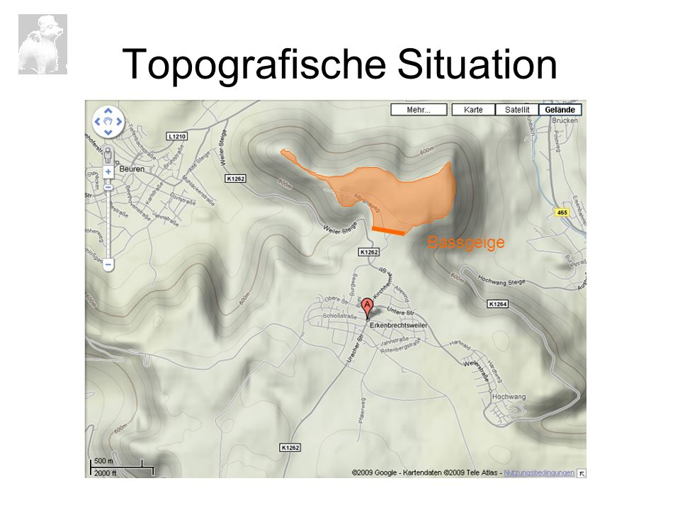 Topografische Situation