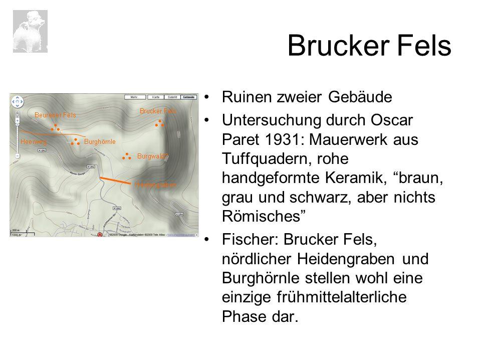 Brucker Fels Ruinen zweier Gebäude