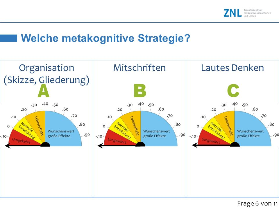 Welche metakognitive Strategie