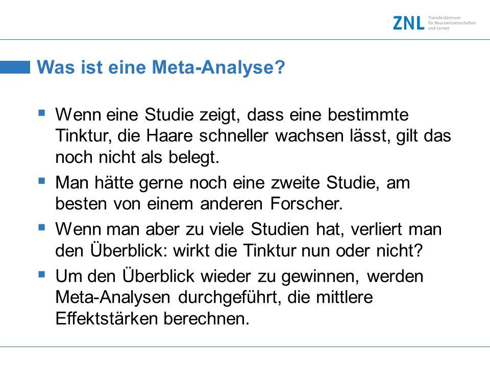 Was ist eine Meta-Analyse