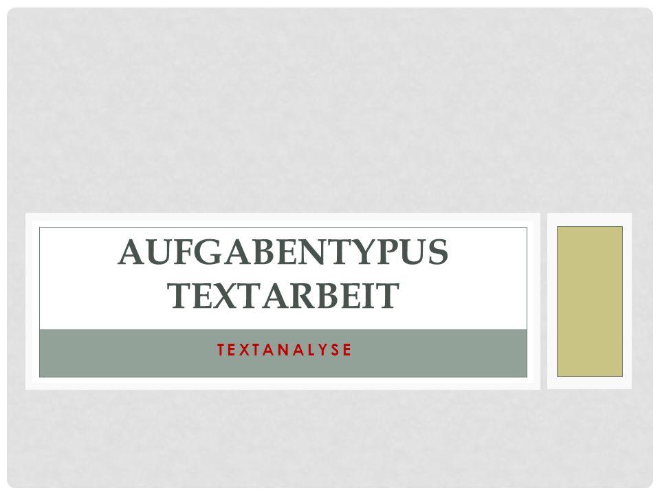 Aufgabentypus textarbeit