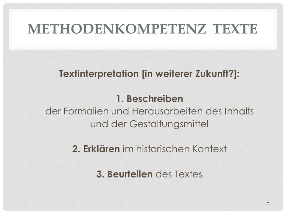 Methodenkompetenz Texte