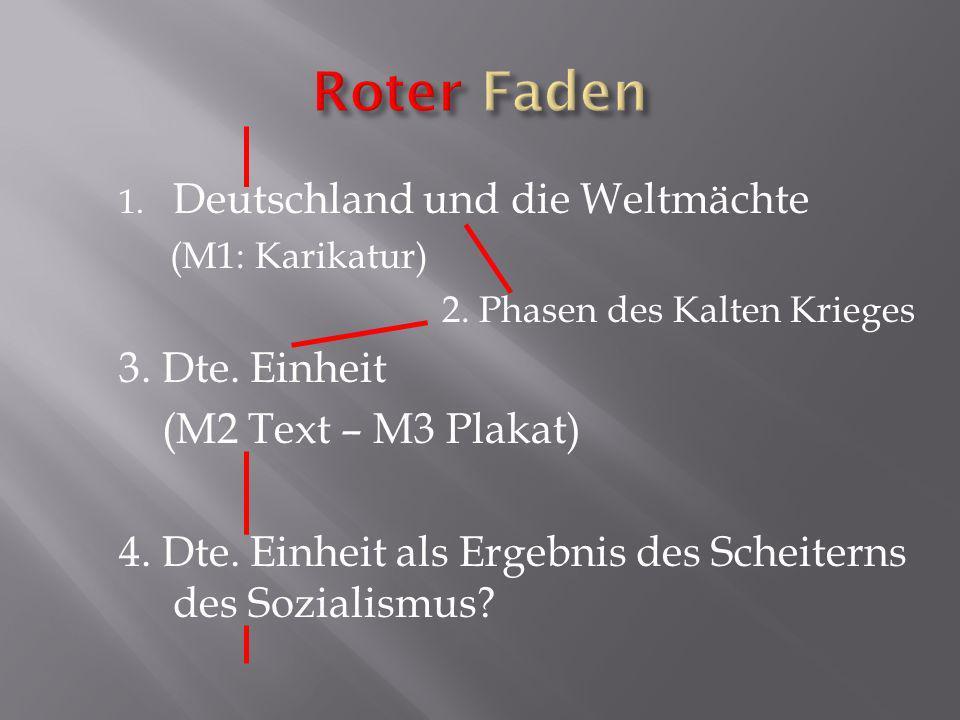 Roter Faden Deutschland und die Weltmächte 3. Dte. Einheit