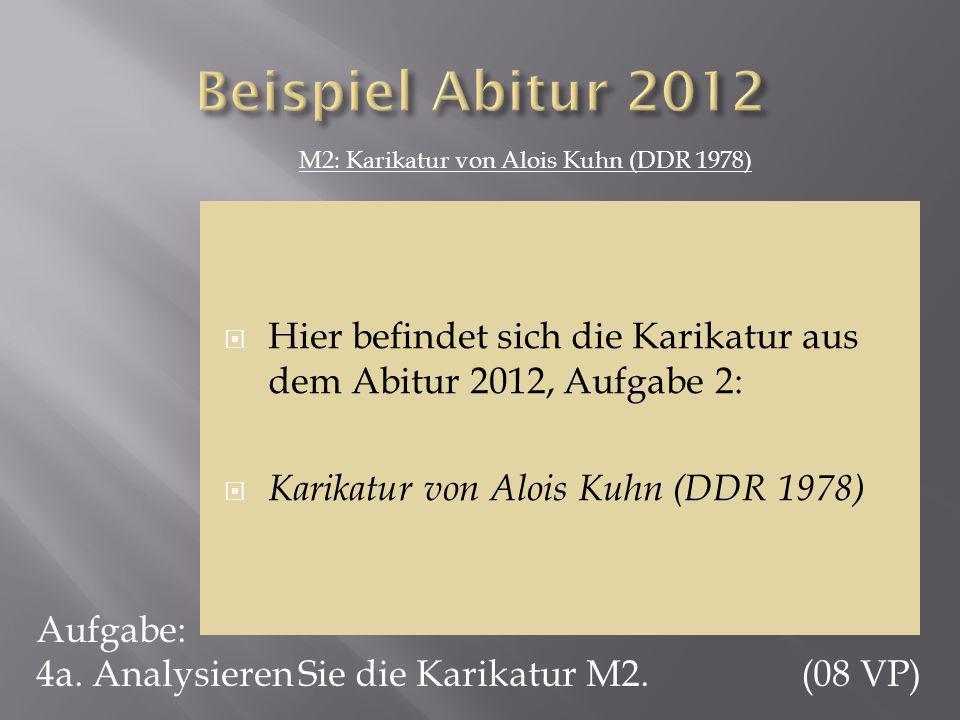 M2: Karikatur von Alois Kuhn (DDR 1978)