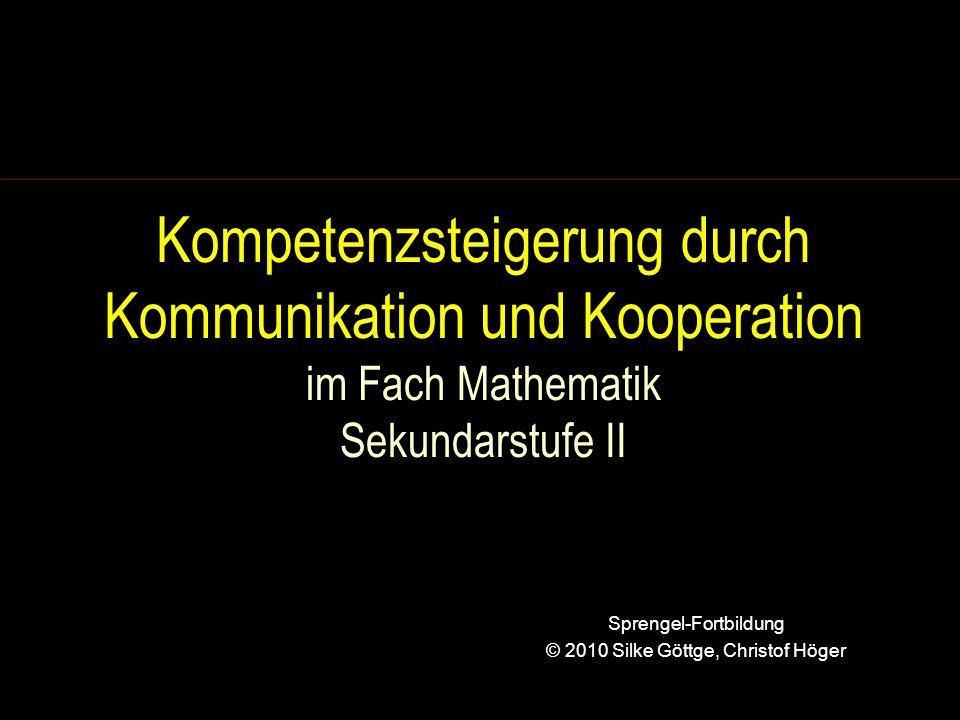 Sprengel-Fortbildung © 2010 Silke Göttge, Christof Höger