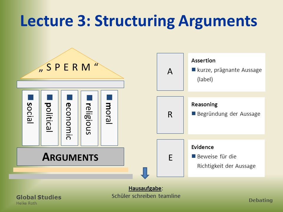 Lecture 3: Structuring Arguments