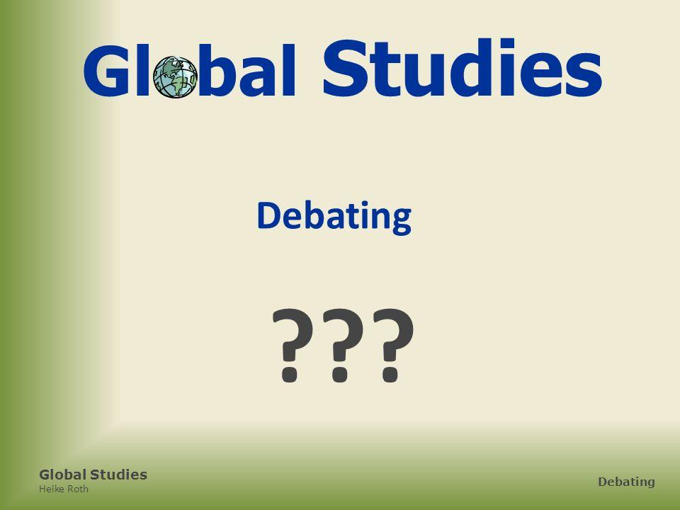 Global Studies Debating