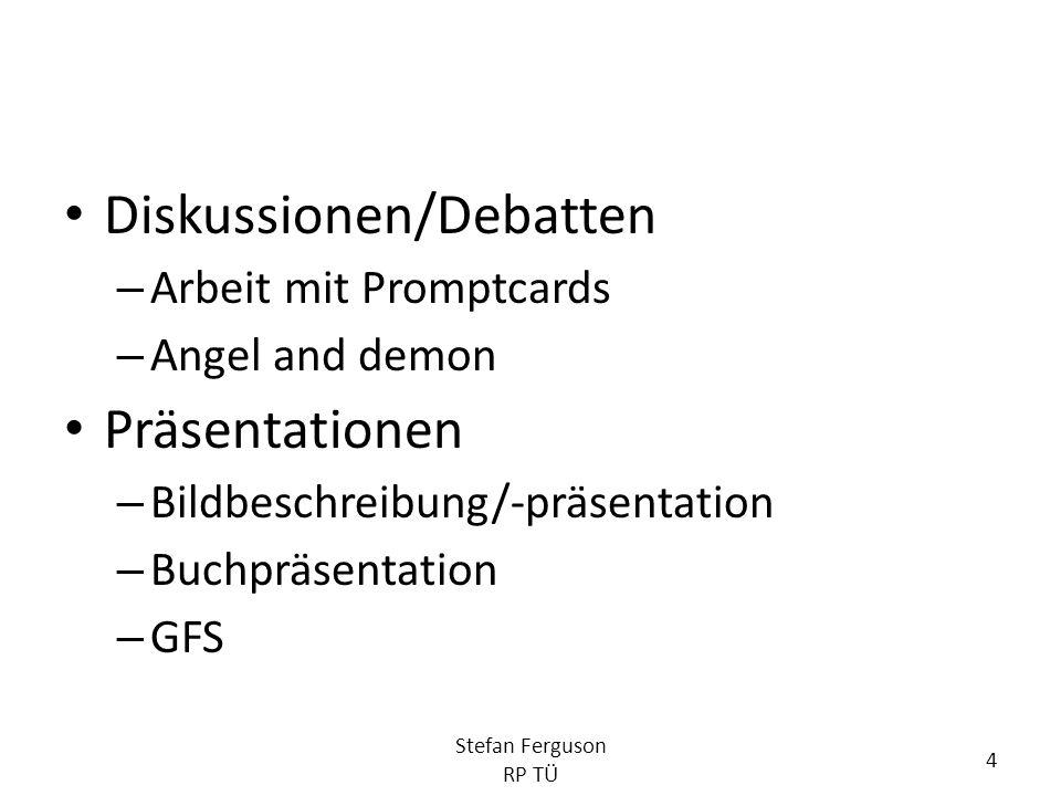 Diskussionen/Debatten