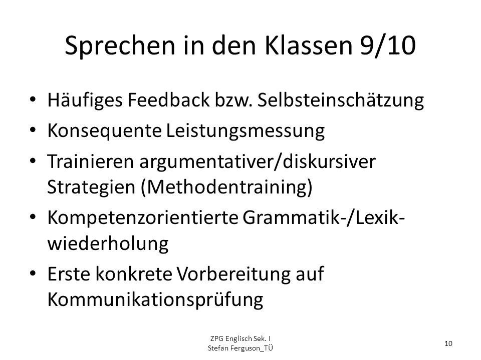 vorbereitung kommunikationsprüfung englisch