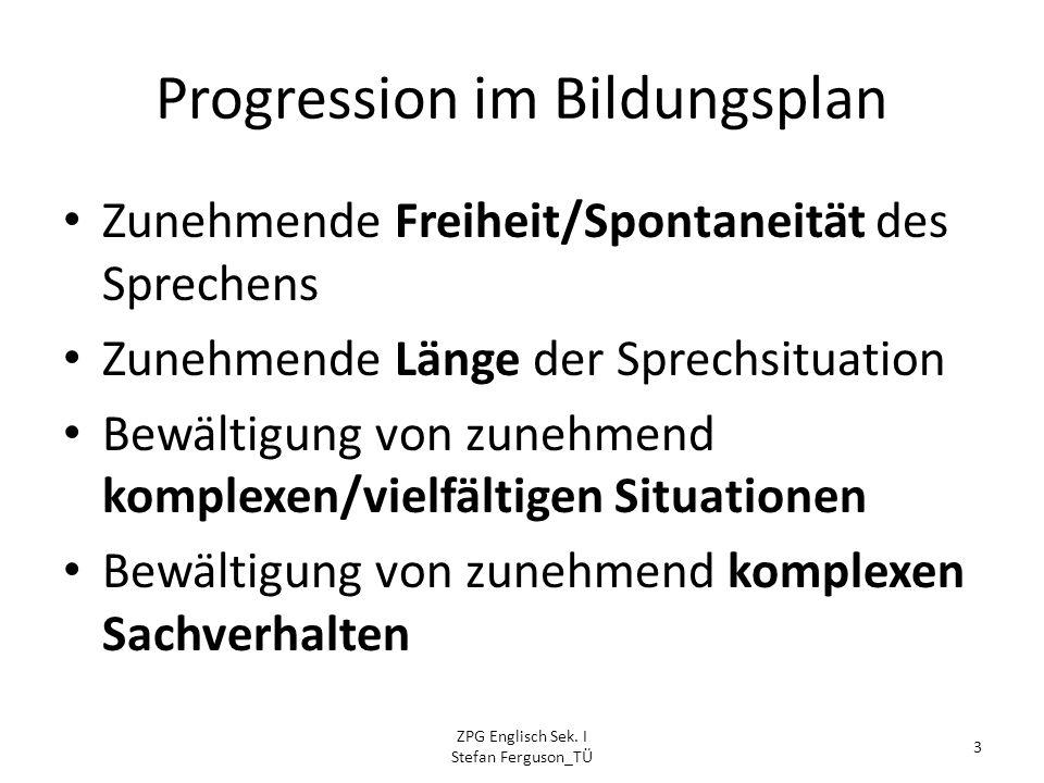 Progression im Bildungsplan