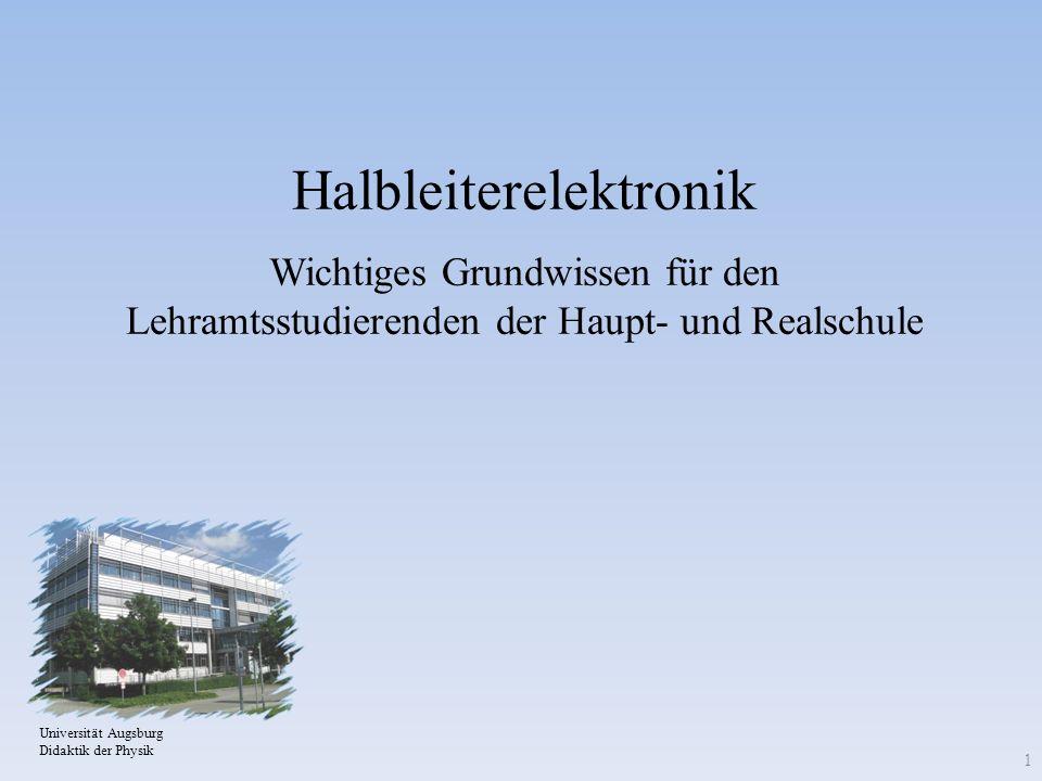 Halbleiterelektronik Wichtiges Grundwissen für den Lehramtsstudierenden der Haupt- und Realschule