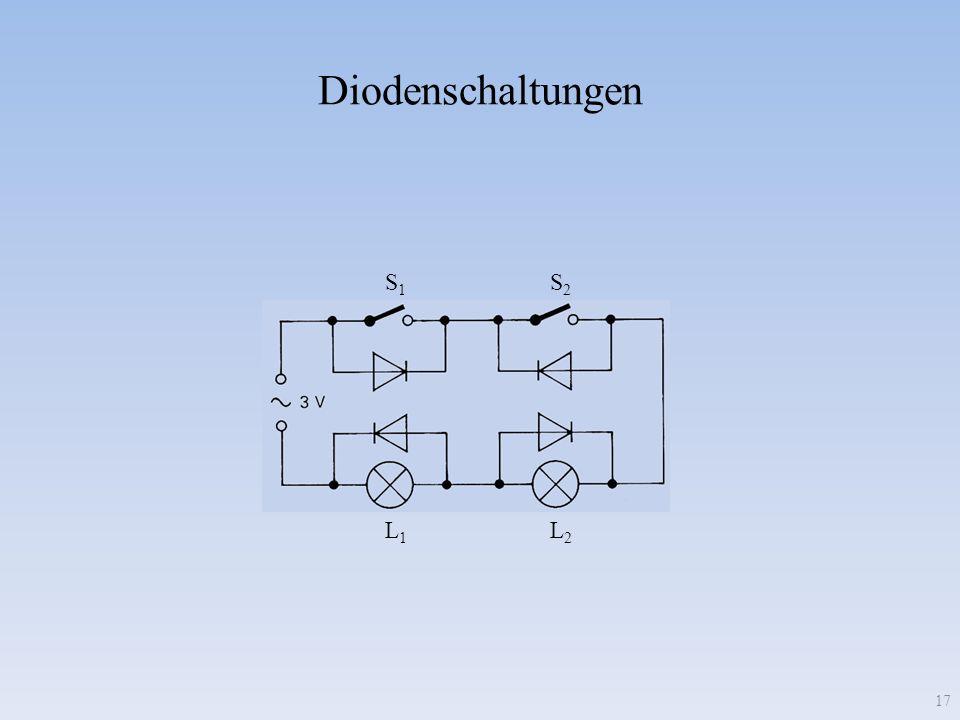 Diodenschaltungen S1 S2 L1 L2