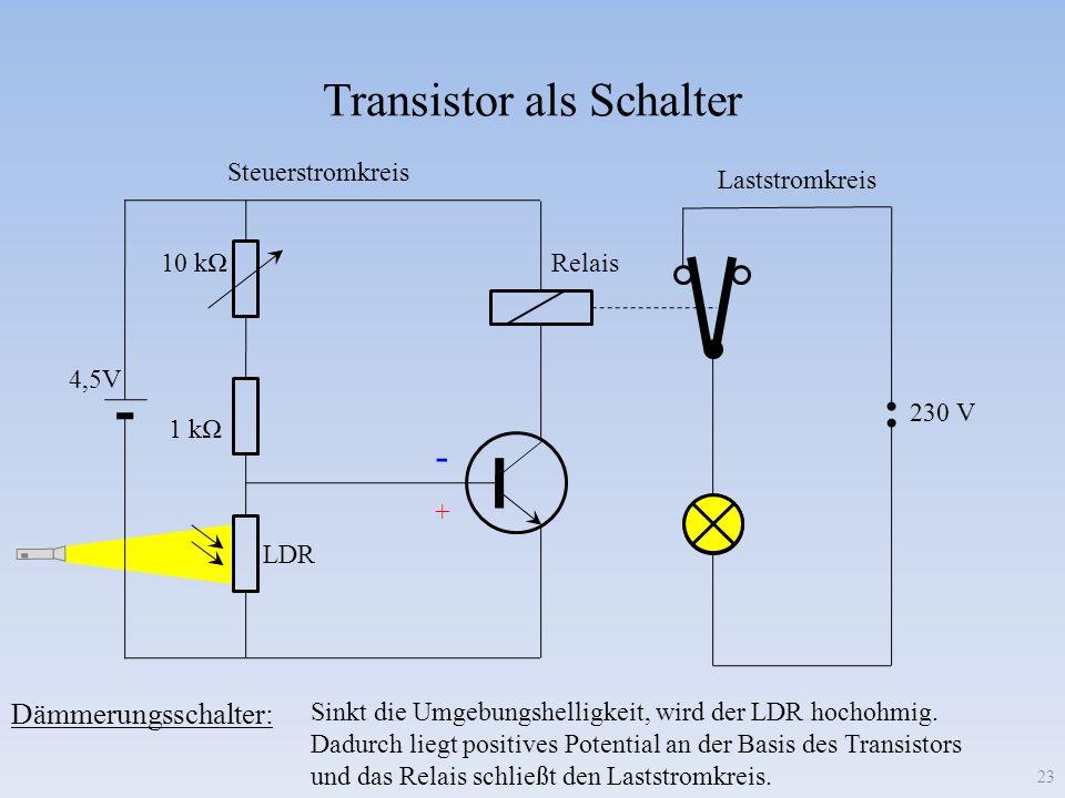 Transistor als Schalter