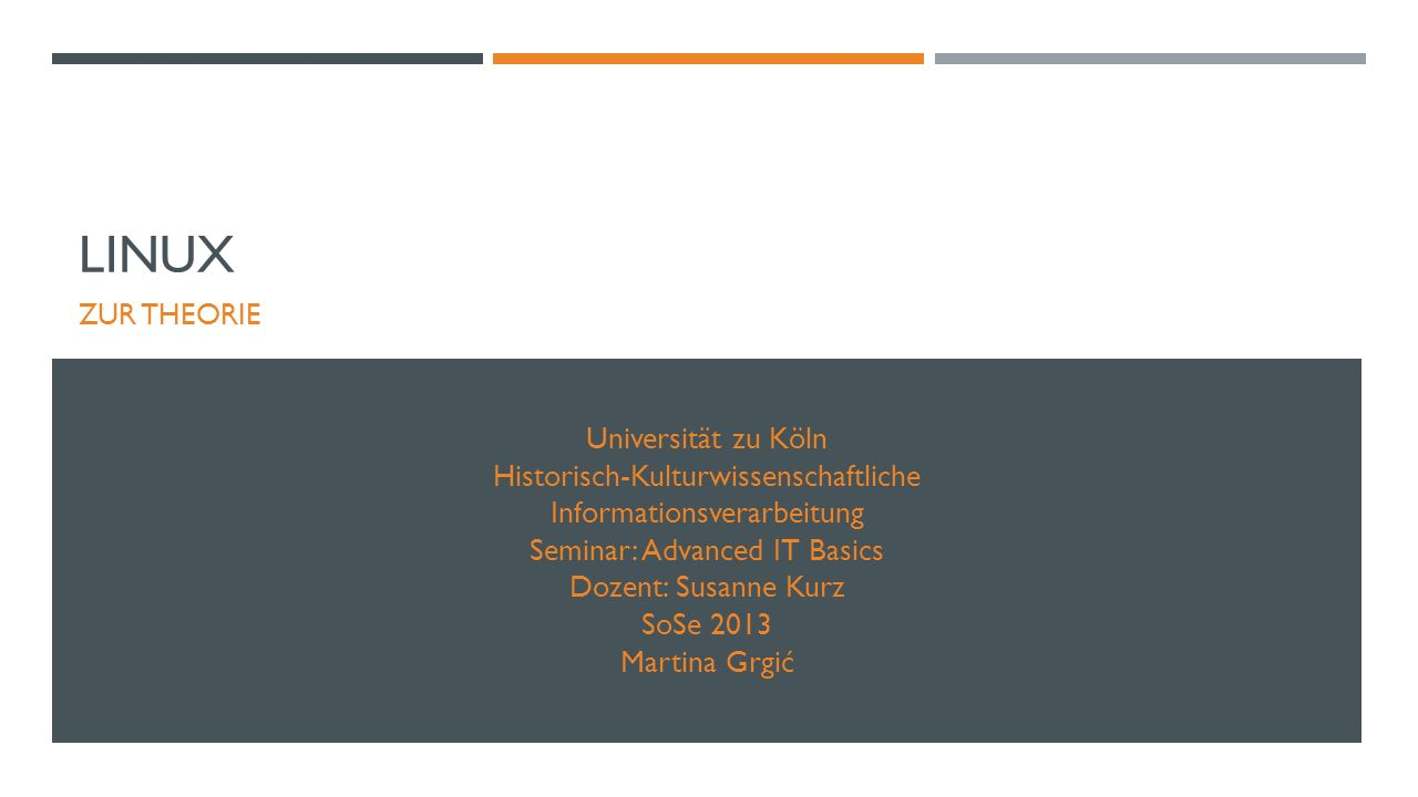 Linux Universität zu Köln