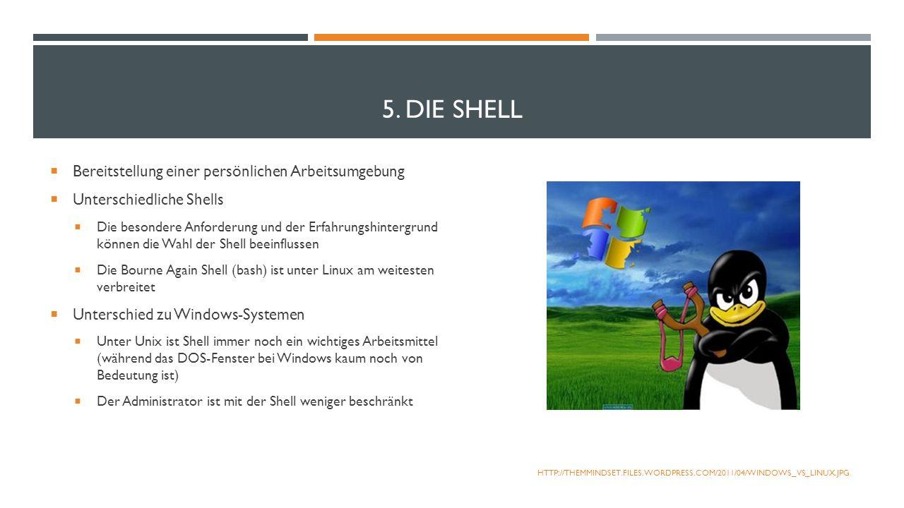 5. Die Shell Bereitstellung einer persönlichen Arbeitsumgebung