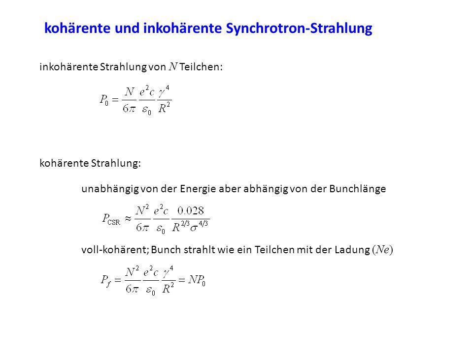 kohärente und inkohärente Synchrotron-Strahlung