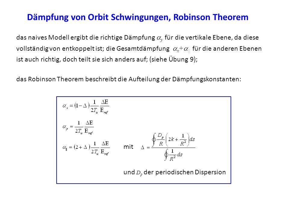 Dämpfung von Orbit Schwingungen, Robinson Theorem