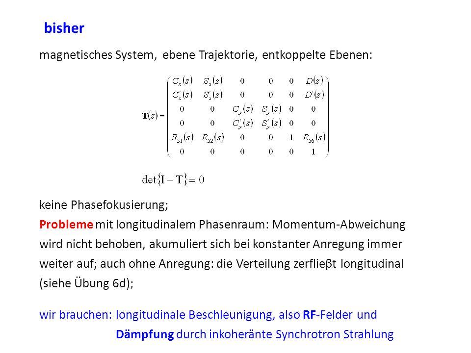 bisher magnetisches System, ebene Trajektorie, entkoppelte Ebenen: