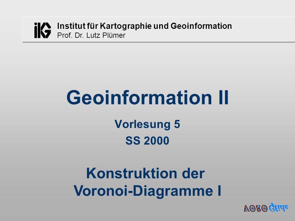 Konstruktion der Voronoi-Diagramme I