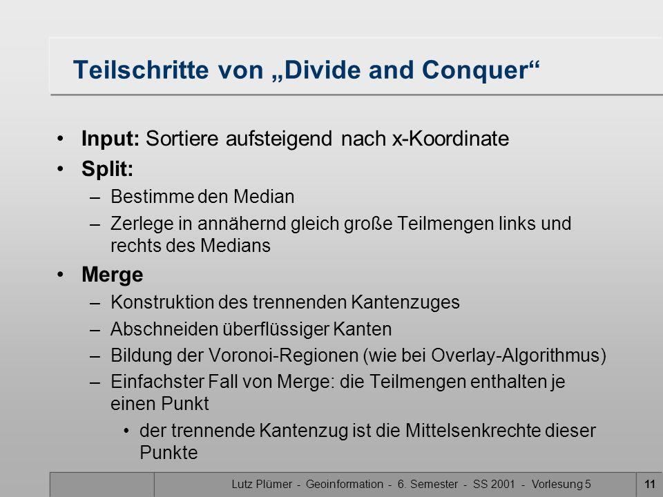 """Teilschritte von """"Divide and Conquer"""