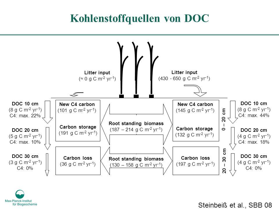 Kohlenstoffquellen von DOC