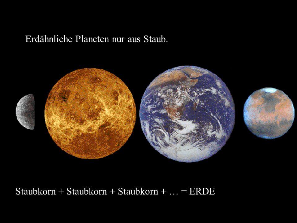 Erdähnliche Planeten nur aus Staub.