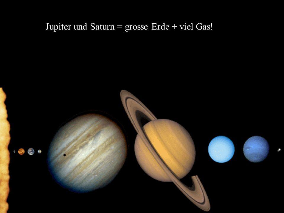 Jupiter und Saturn = grosse Erde + viel Gas!