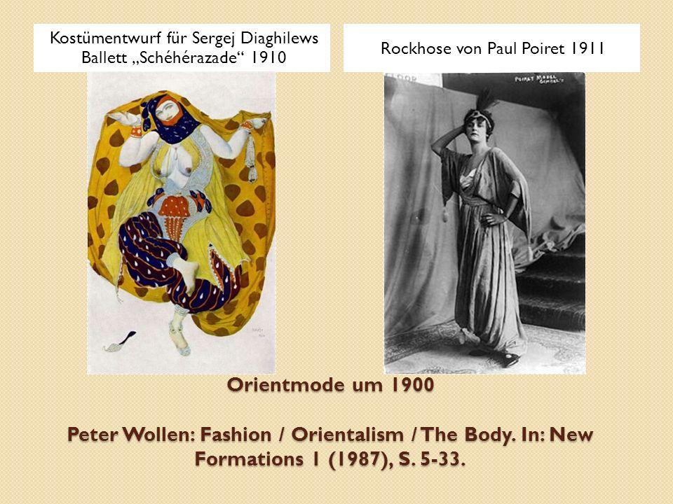 """Kostümentwurf für Sergej Diaghilews Ballett """"Schéhérazade 1910"""
