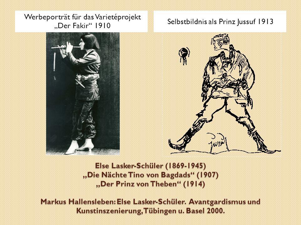 """Werbeporträt für das Varietéprojekt """"Der Fakir 1910"""
