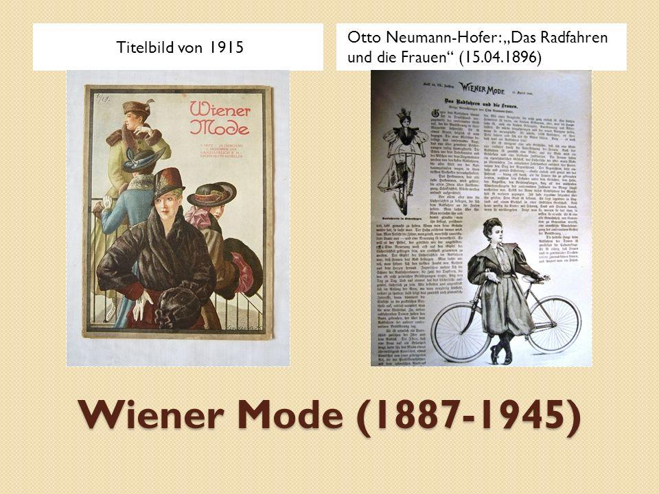 Wiener Mode (1887-1945) Titelbild von 1915