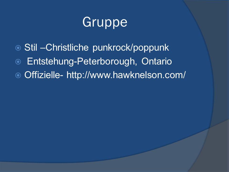 Gruppe Stil –Christliche punkrock/poppunk