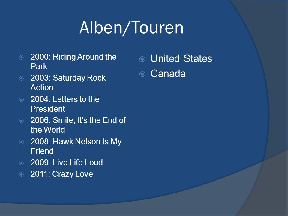 Alben/Touren United States Canada 2000: Riding Around the Park