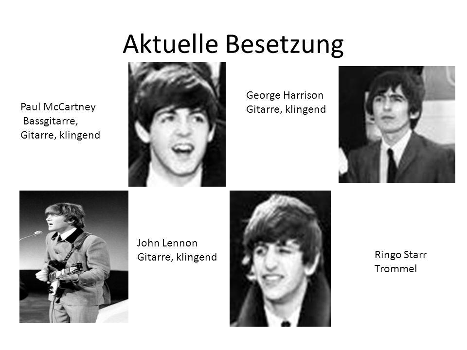 Aktuelle Besetzung George Harrison Gitarre, klingend Paul McCartney