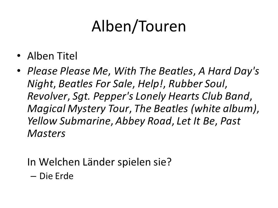 Alben/Touren Alben Titel
