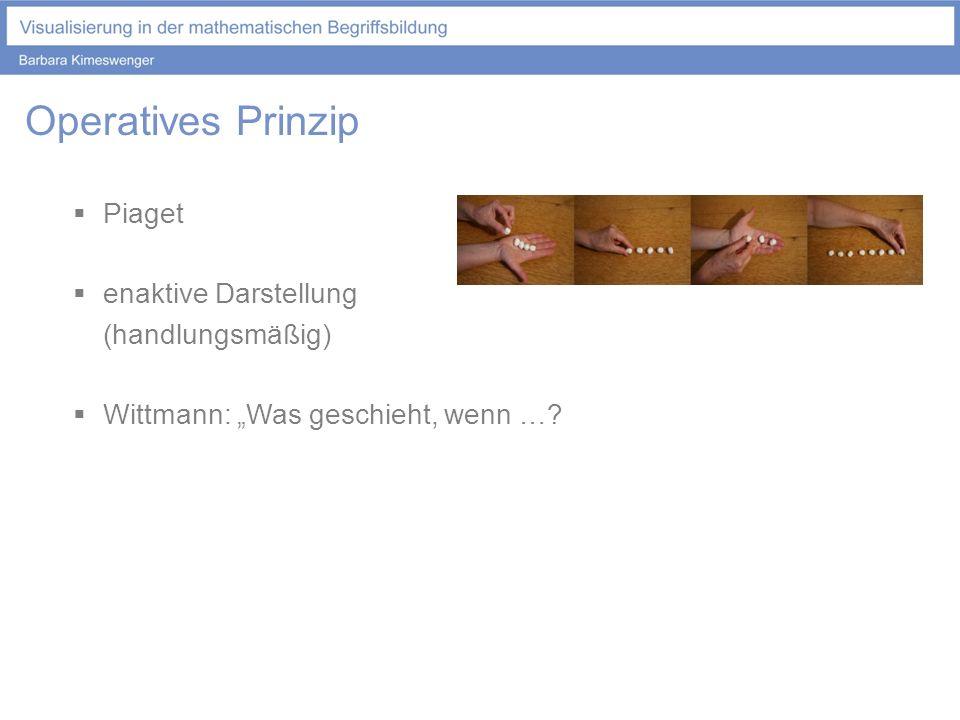 Operatives Prinzip Piaget enaktive Darstellung (handlungsmäßig)