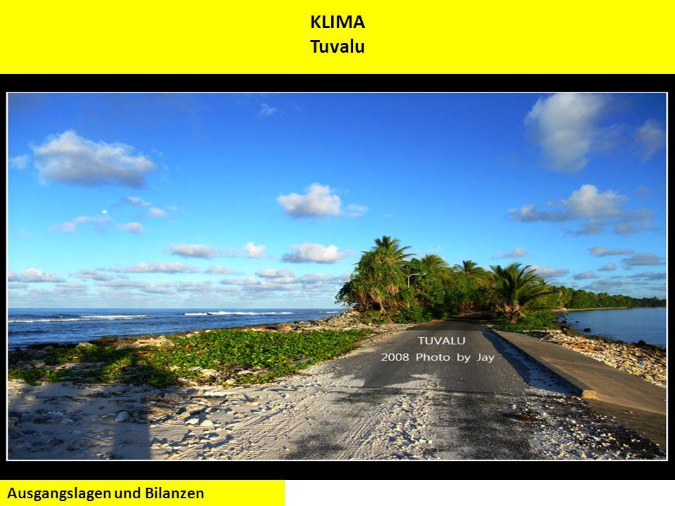 KLIMA Tuvalu Ausgangslagen und Bilanzen