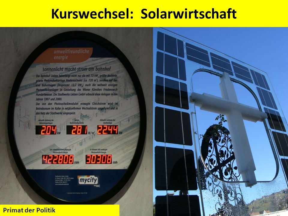 Kurswechsel: Solarwirtschaft