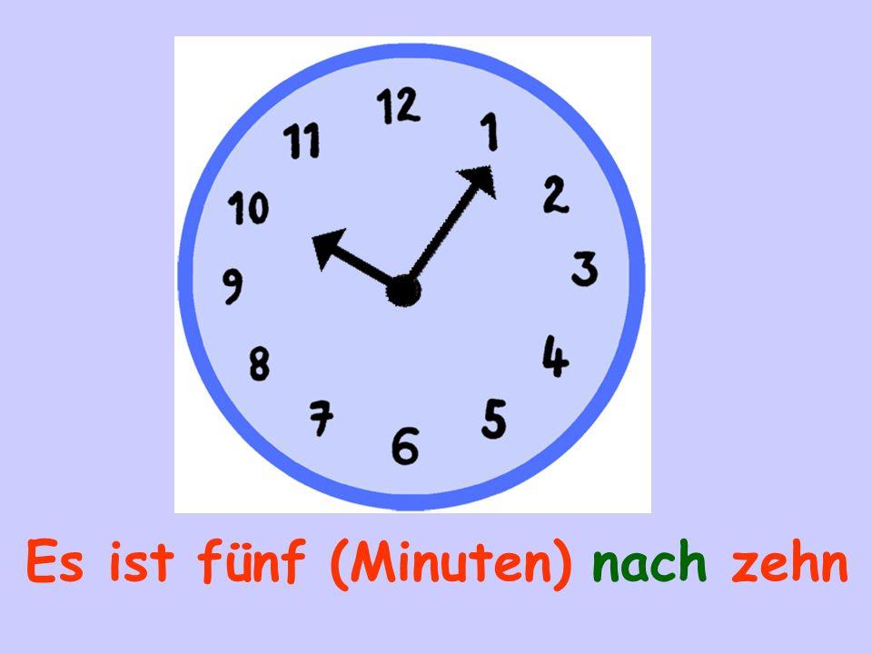 Es ist fünf (Minuten) nach zehn