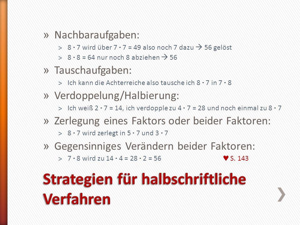 Strategien für halbschriftliche Verfahren