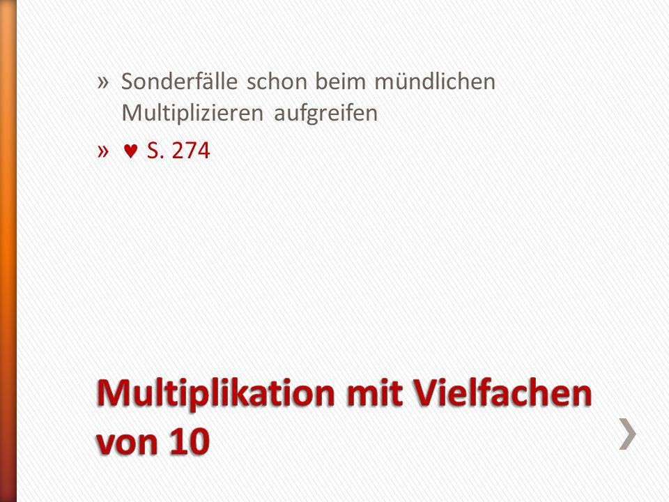 Multiplikation mit Vielfachen von 10