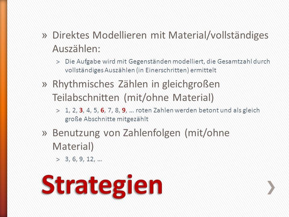 Strategien Direktes Modellieren mit Material/vollständiges Auszählen: